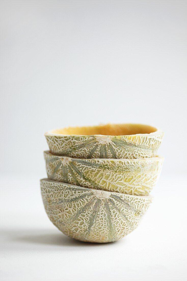 A stack of melon shells