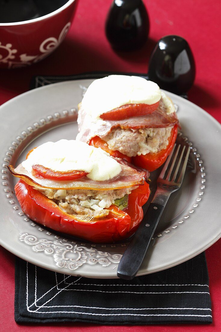 Serbian style peppers with cheese