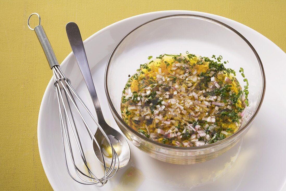 Shallot and herb vinaigrette
