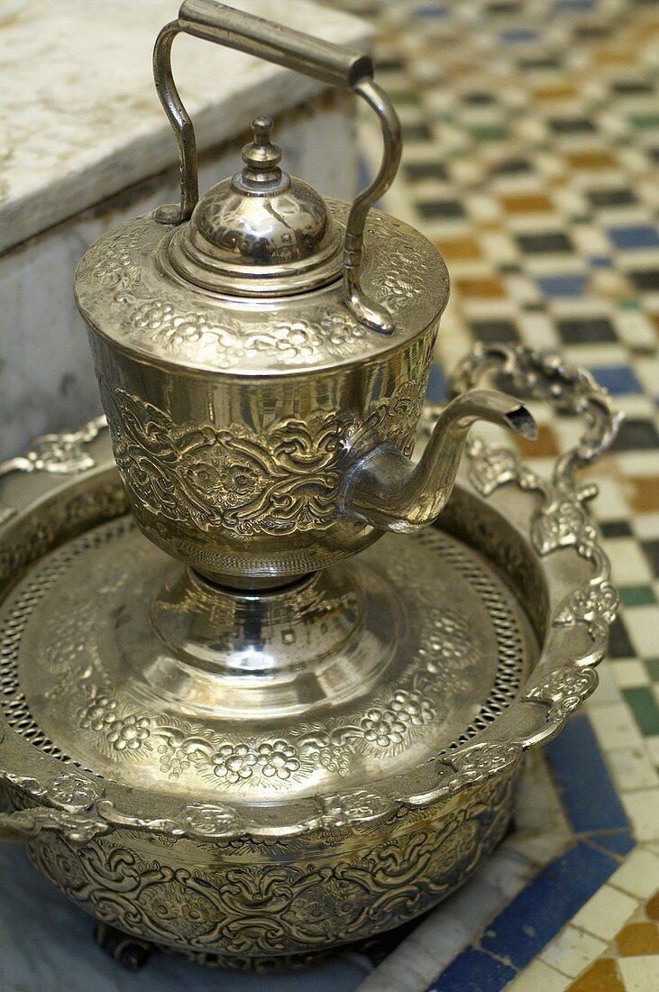 A Moroccan tea pot