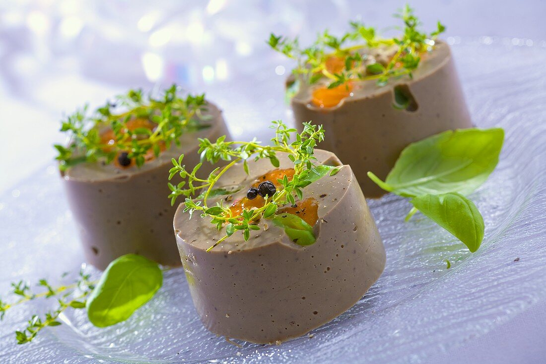 Liver terrines with herbs