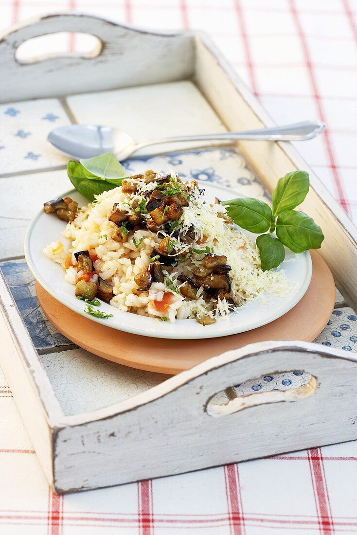 Risotto with grated cheese