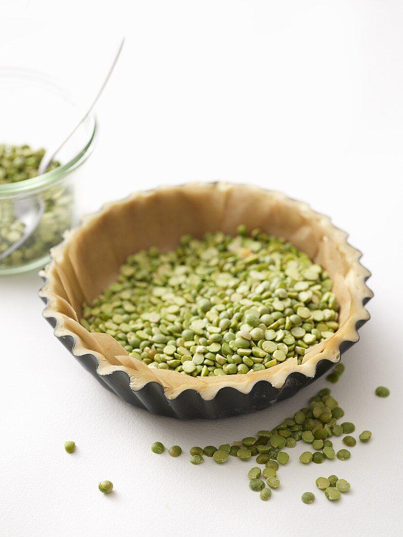 Baking blind with split peas