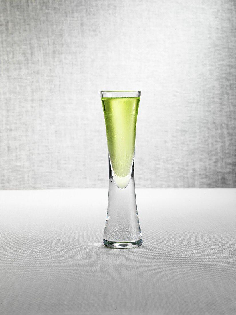Kamikaze (Lime Shooter, alcopop) in shot glass