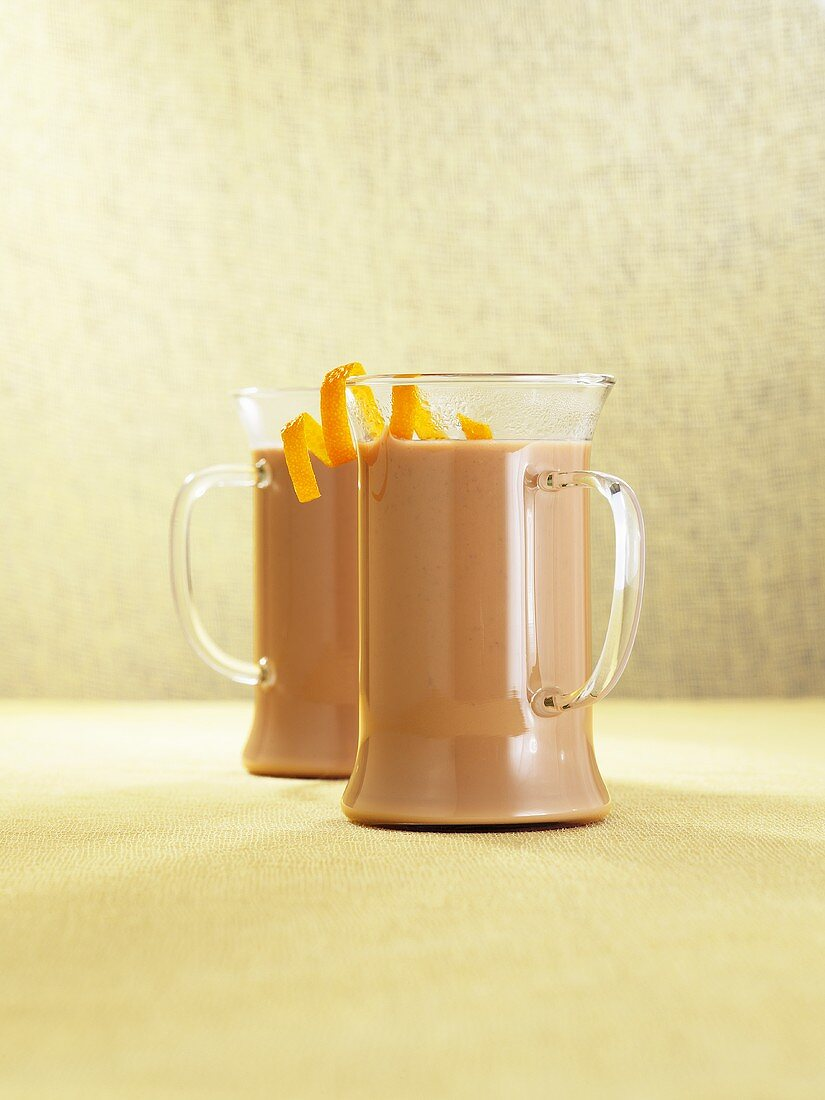 Coffee punch with Amaretto and orange zest