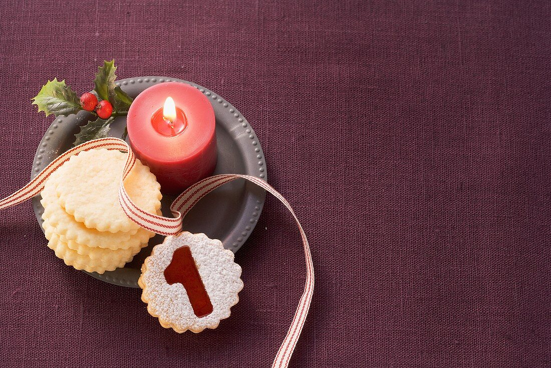 Biscuits and a candle
