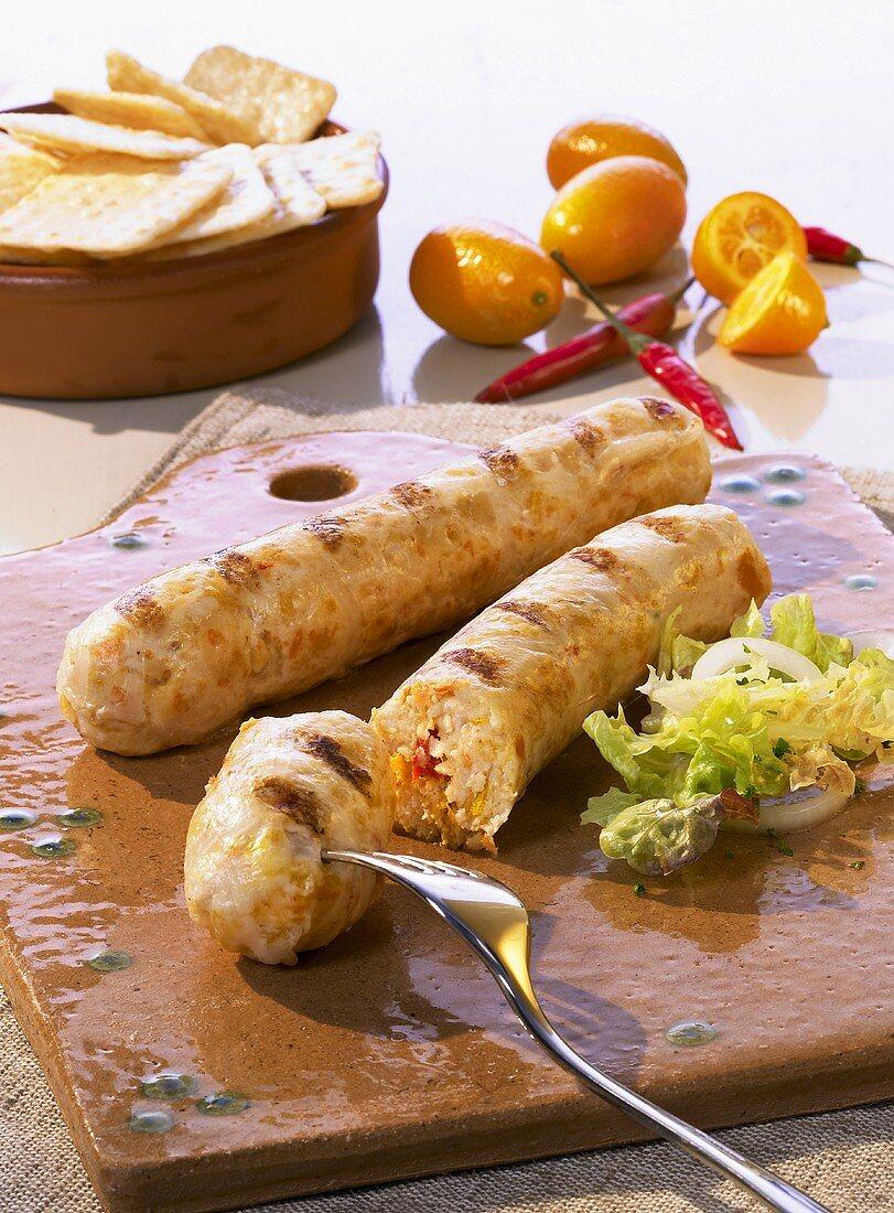 Home-made spicy turkey sausage