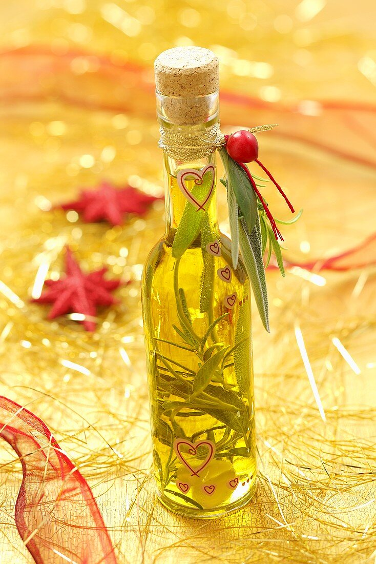 Herb oil as a Christmas present