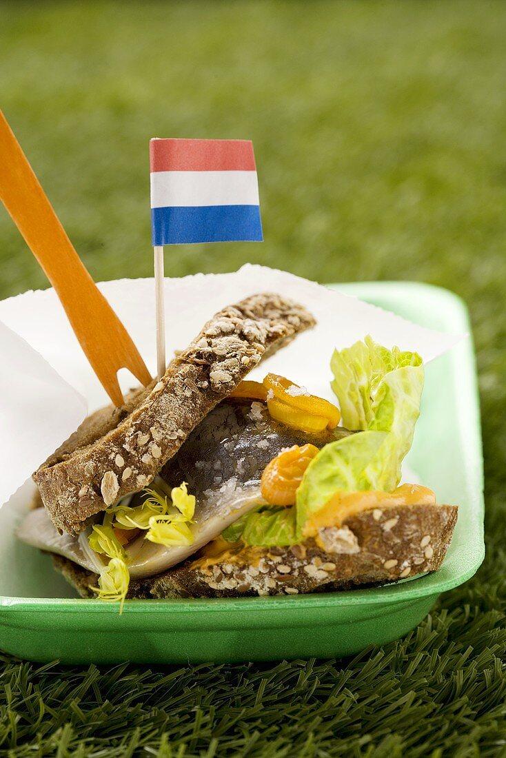 Matjes on wholemeal bread (Holland)