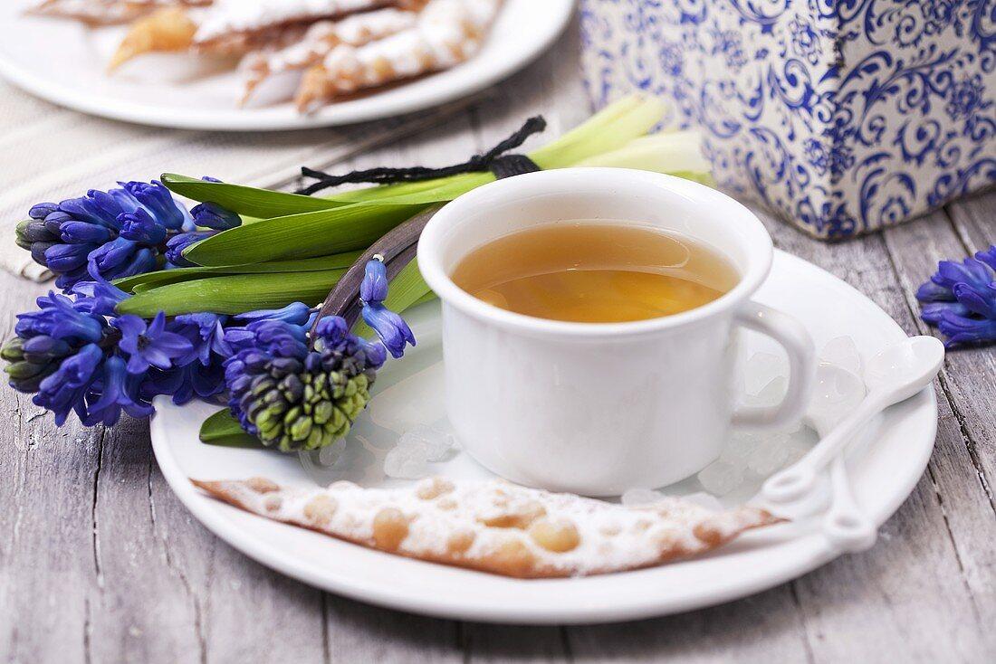 Scherben (Lent cakes) and spring herb tea