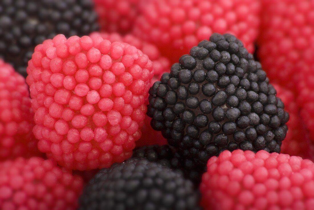 Blackberry and raspberry bobbles