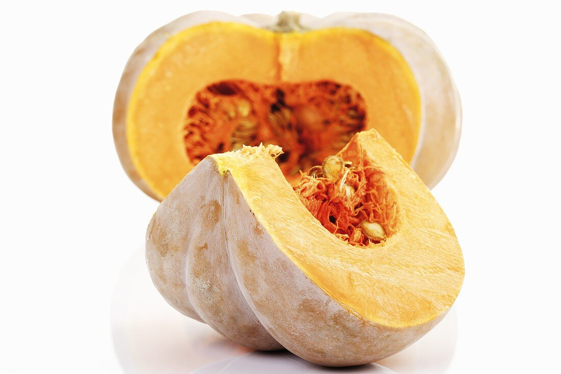Pumpkin, cut open