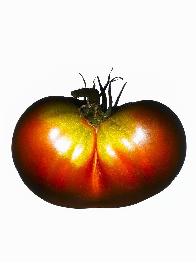 An organic tomato (variety Brown Flash)