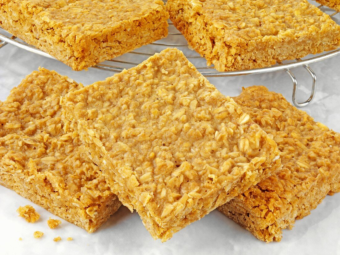Flapjacks (Healthy oat slices, UK)