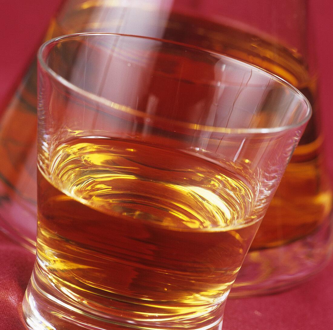 A glass of single malt whisky