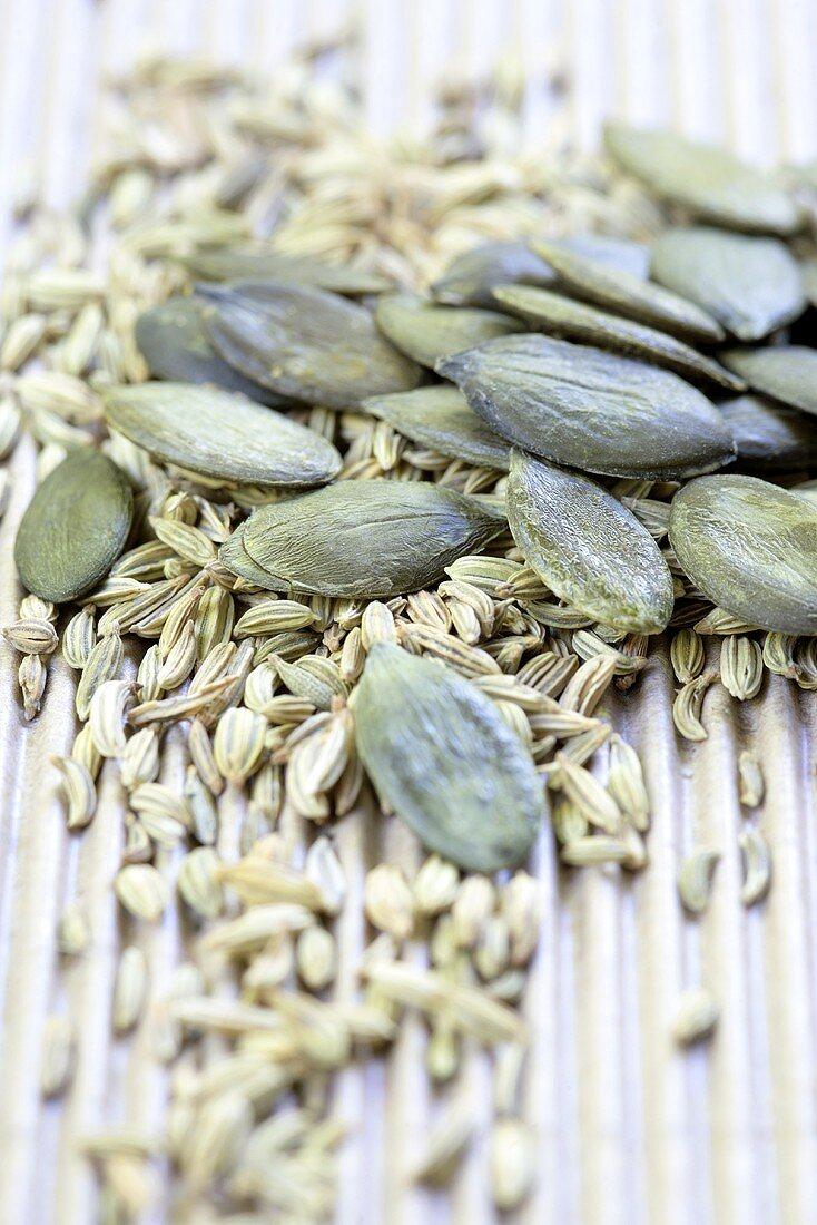 Pumpkin seeds and caraway seeds