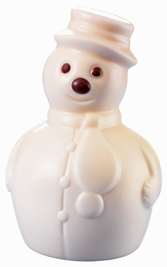 White chocolate snowman