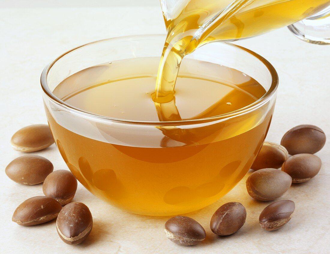 Argan oil and argan nuts