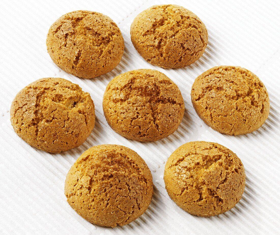 Amaretti (Almond biscuits flavoured with ratafia, Italy)