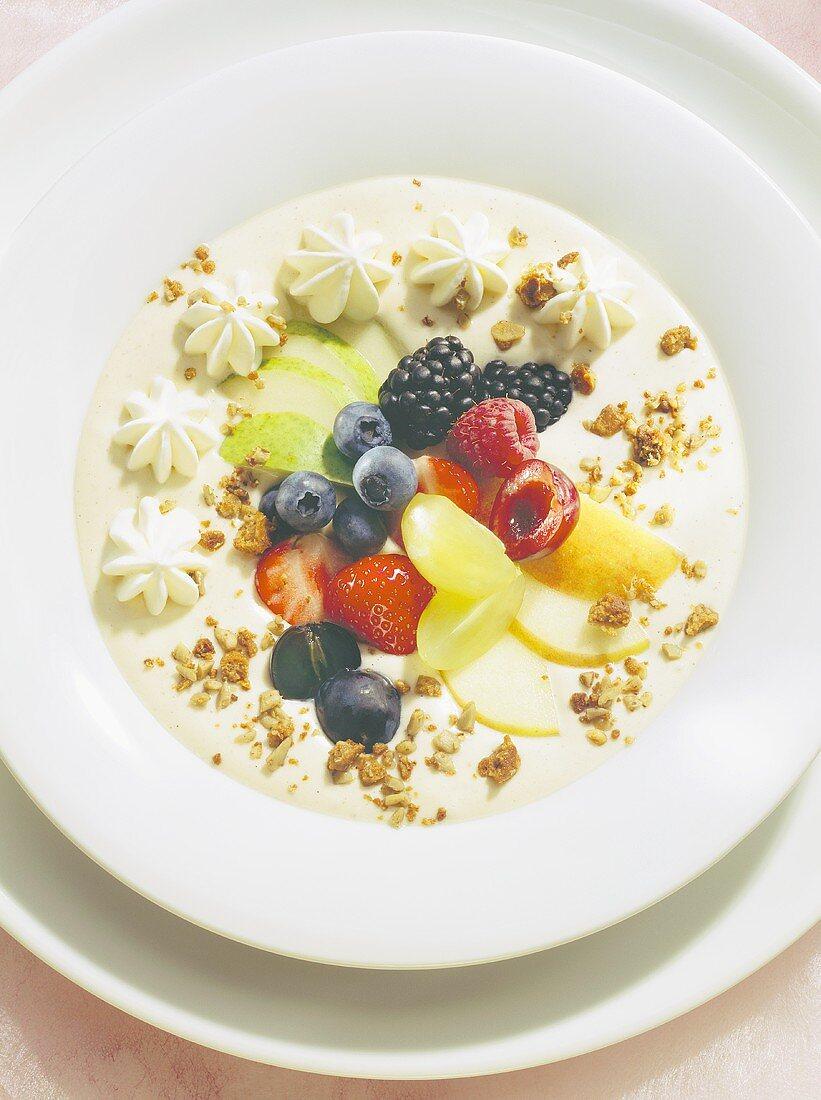 Cold Yogurt Soup with Fruit