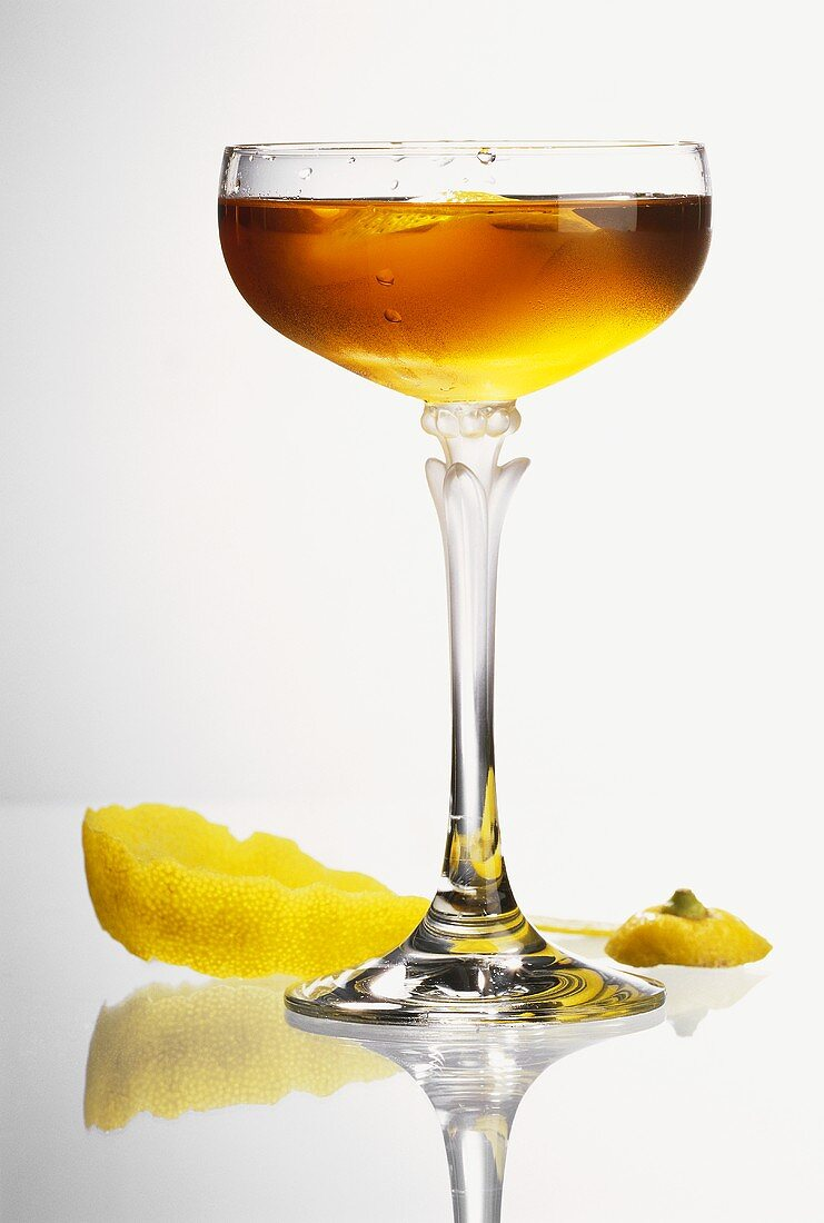 Adonis Cocktail with Sherry & Lemon