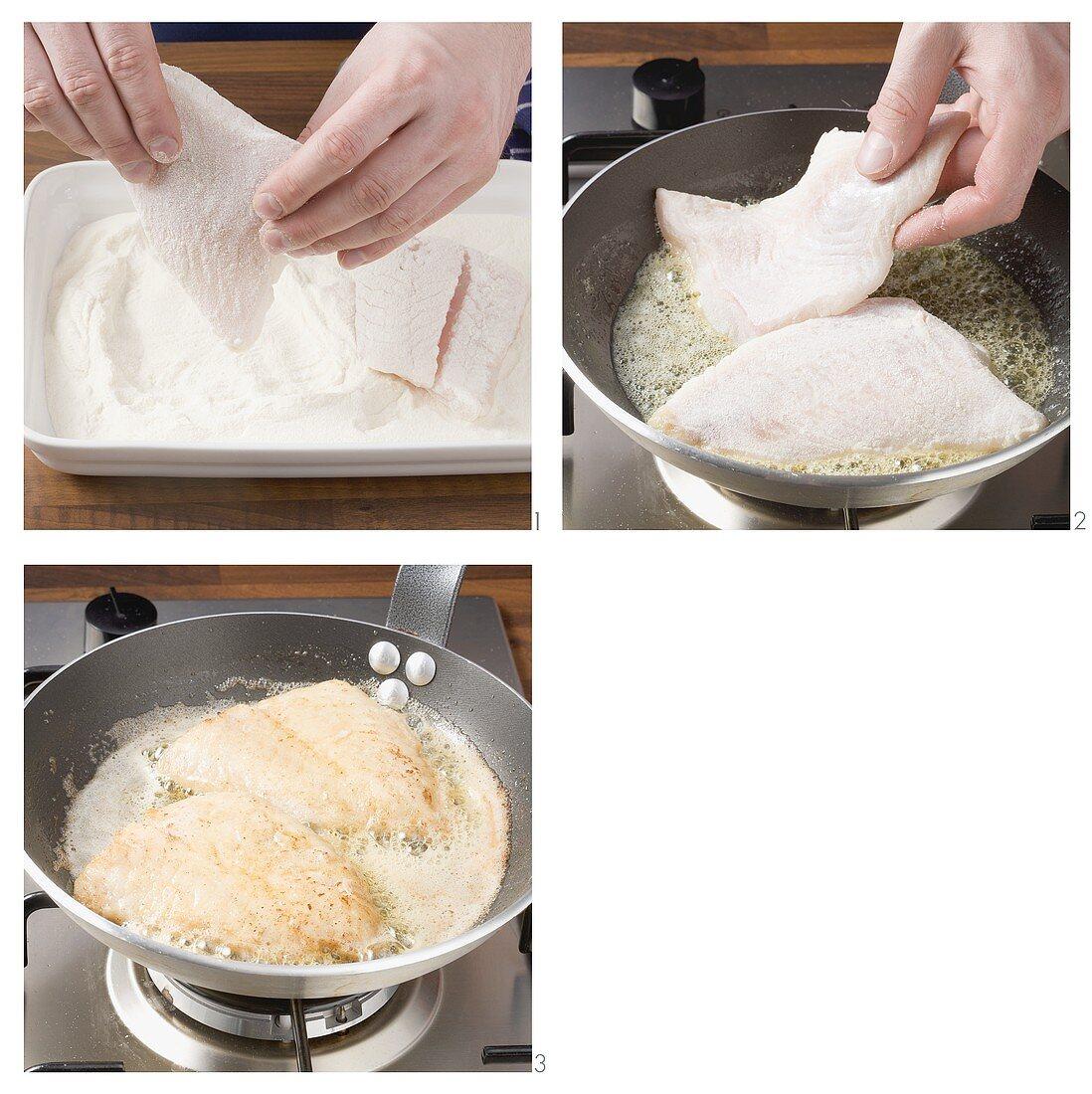 Frying fish fillet