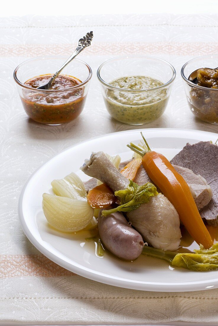 Bollito misto (mixed boiled meat), Piedmont, Italy