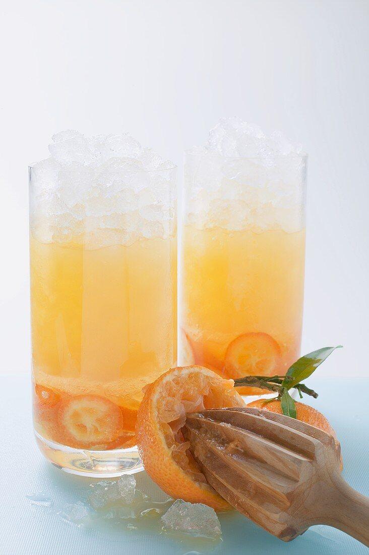Waikiki Sun Breezer (Drink made with kumquats & orange juice)