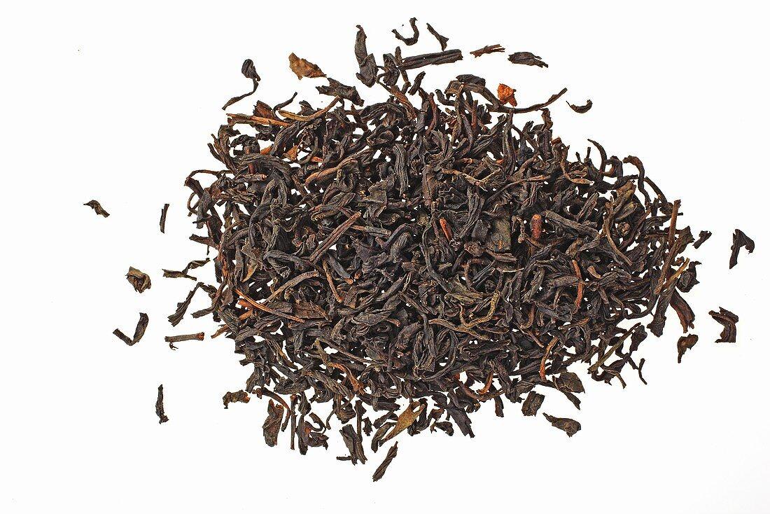 Lapsang souchong tea (Black tea smoked over pine roots, China)