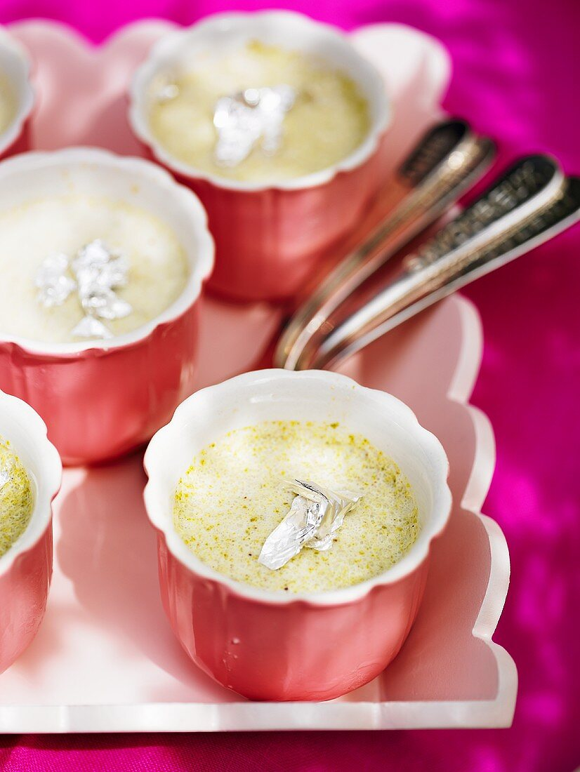 Kulfi with pistachios (Indian ice cream)