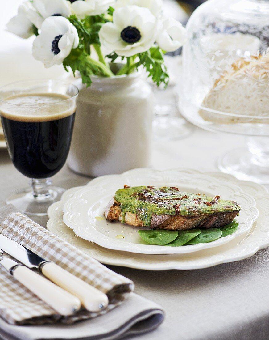 Irish rarebit (Cheese on toast, Ireland)