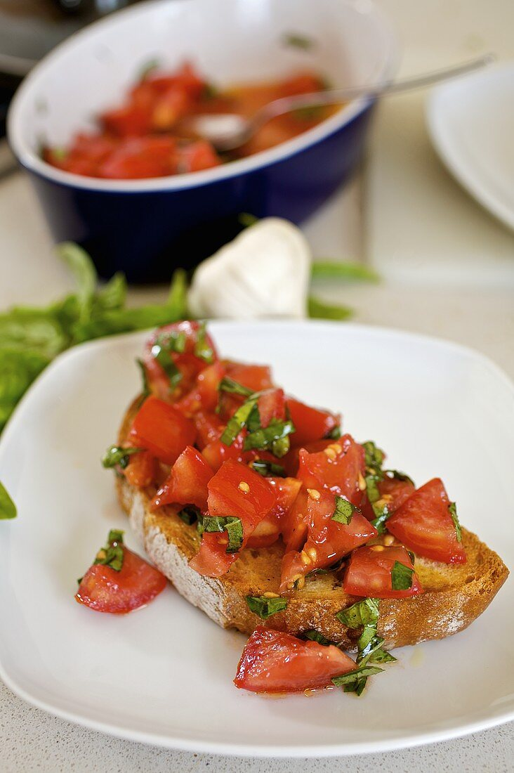 Bruschetta (Tomatoes on toast, Italy)