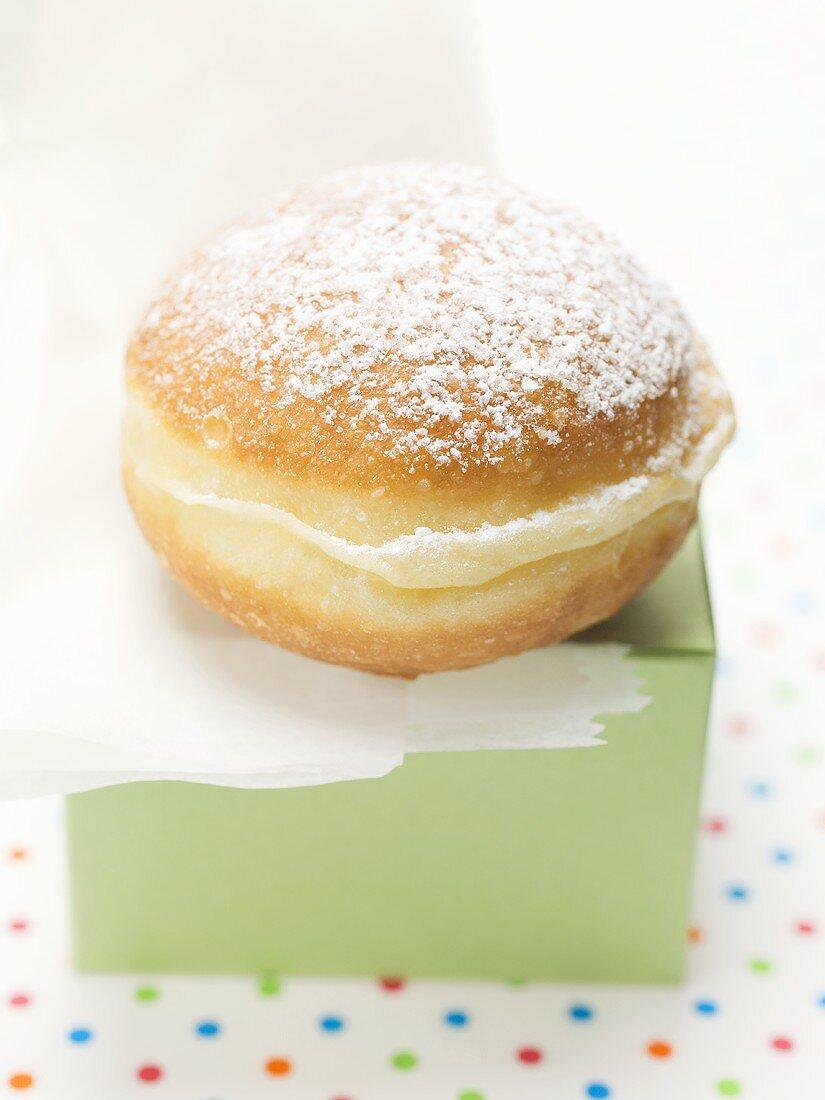 Carnival doughnut on box