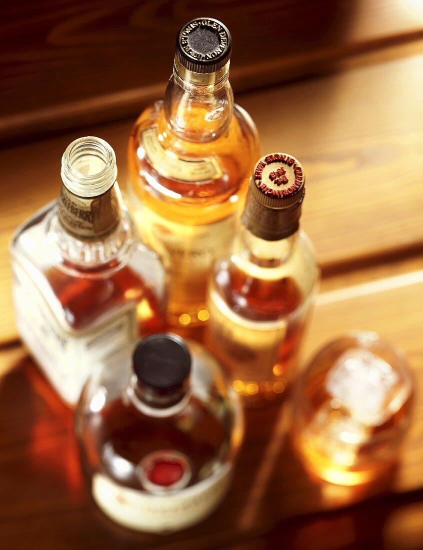 Various whiskies