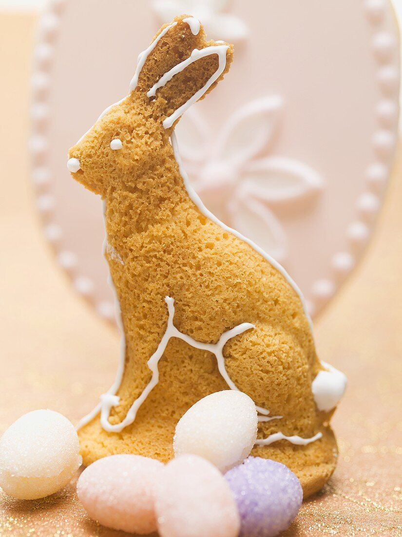 Baked Easter Bunny and sugar eggs