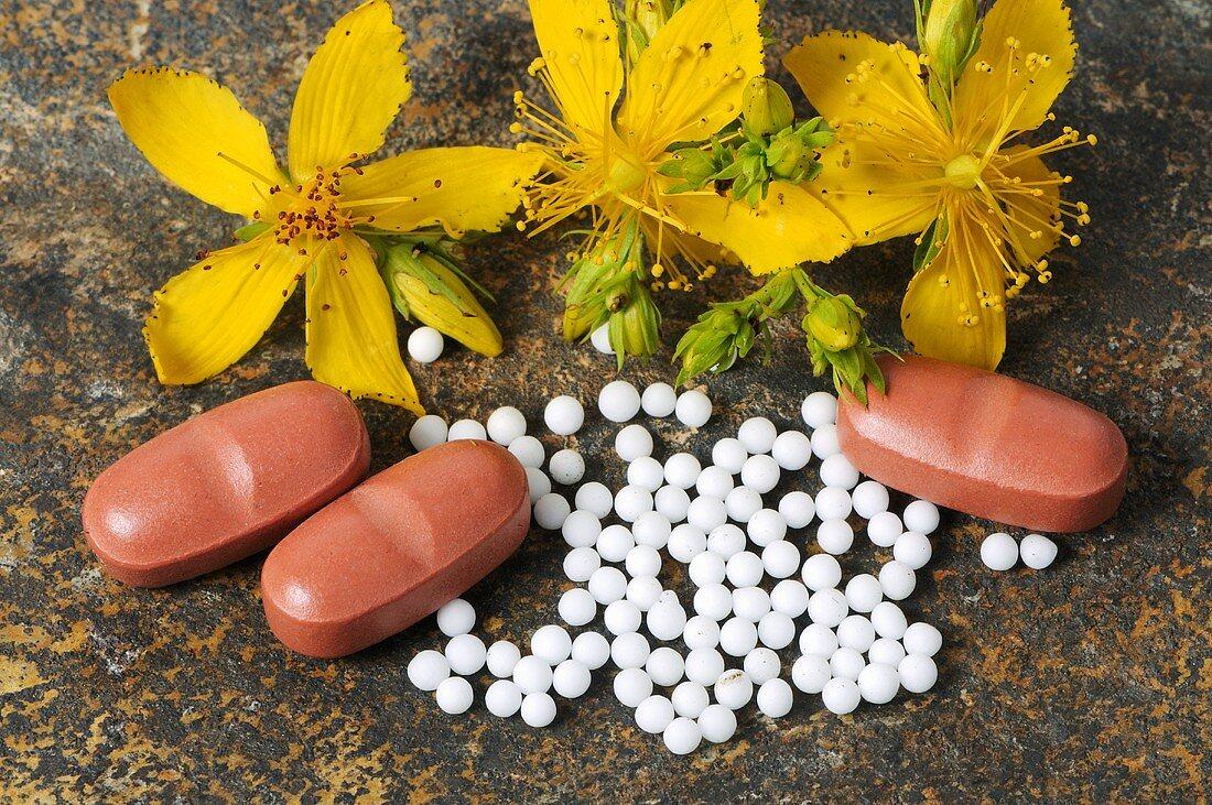St. John's wort: globuli (pellets) and tablets