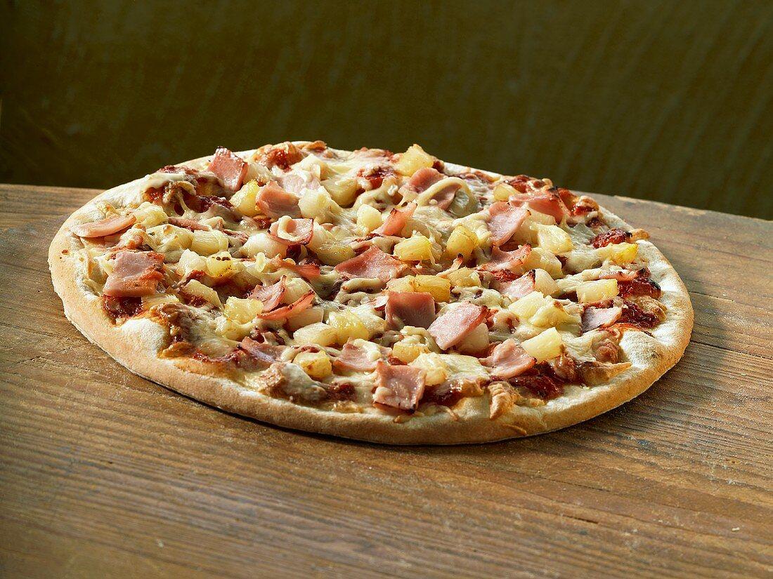 A Hawaiian pizza