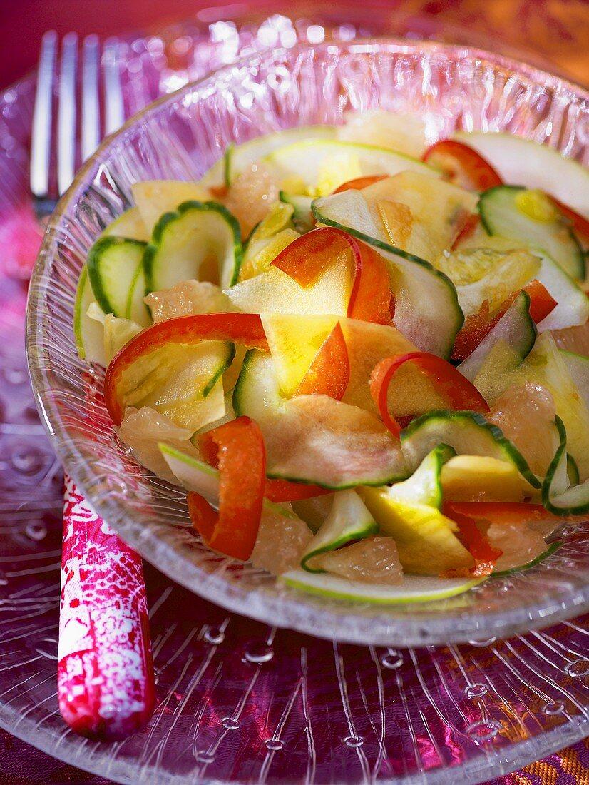 Cucumber and grapefruit salad, Bali