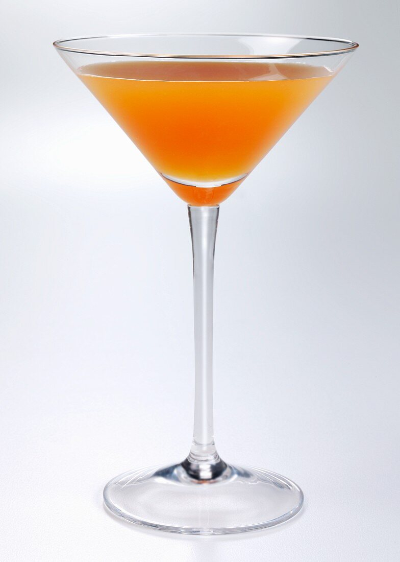 Mango cocktail in a cocktail glass