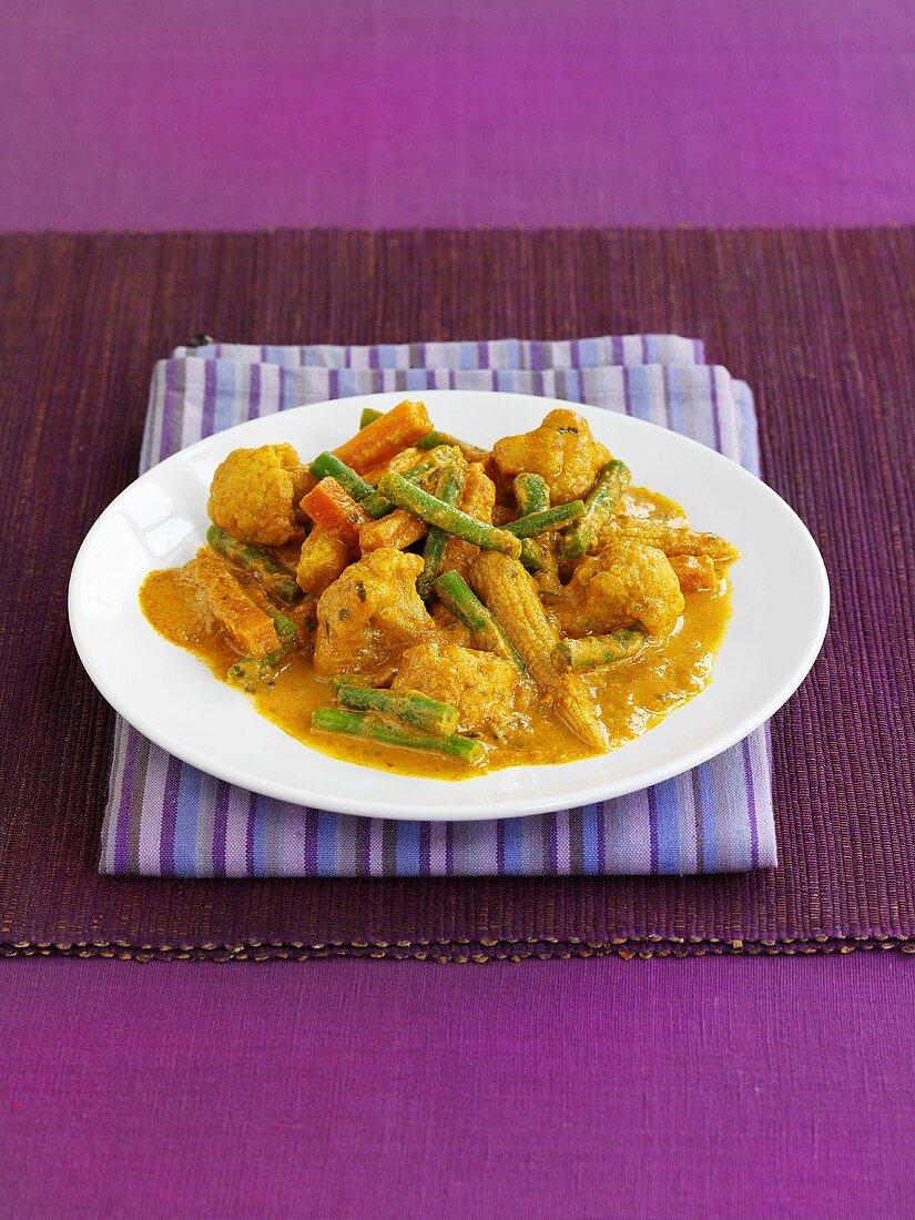 Vegetable tikka masala (India)