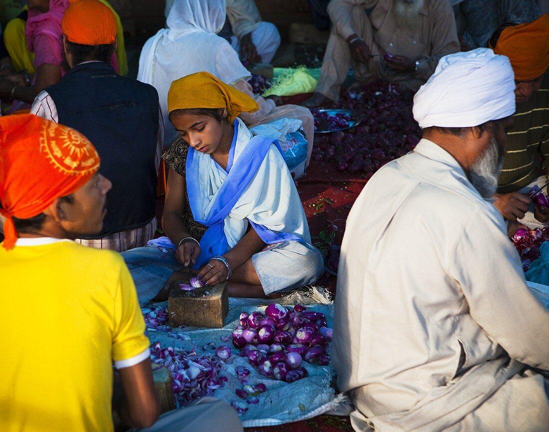 Communal eating (Langar), Amritsar, Punjab, India