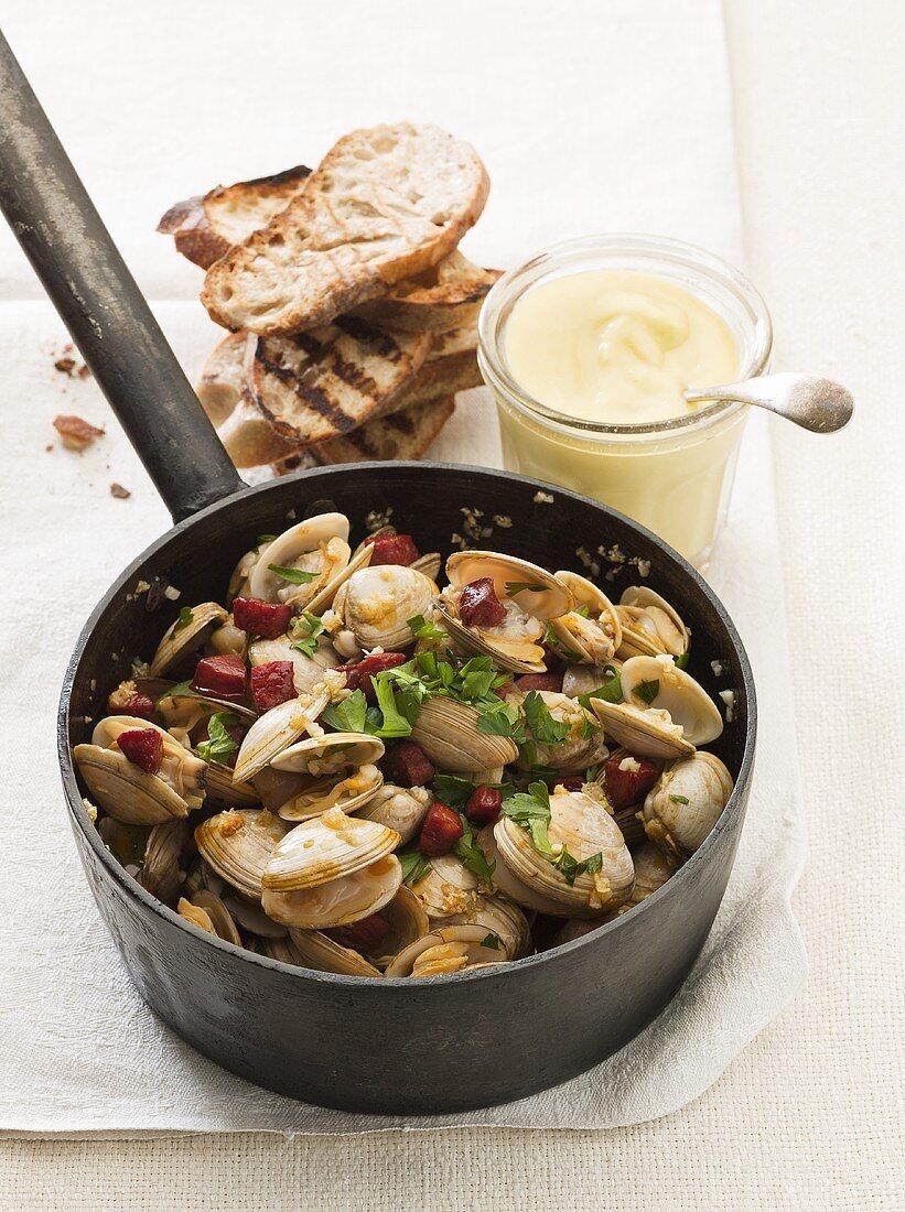 Shellfish stew with chorizo