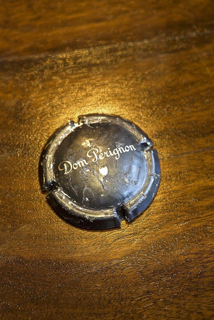 Cap from a bottle of Dom Perignon champagne