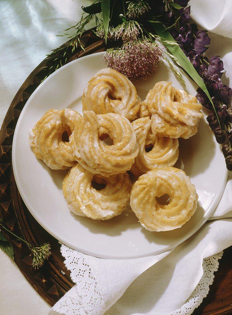 Glazed Viennese Whirls