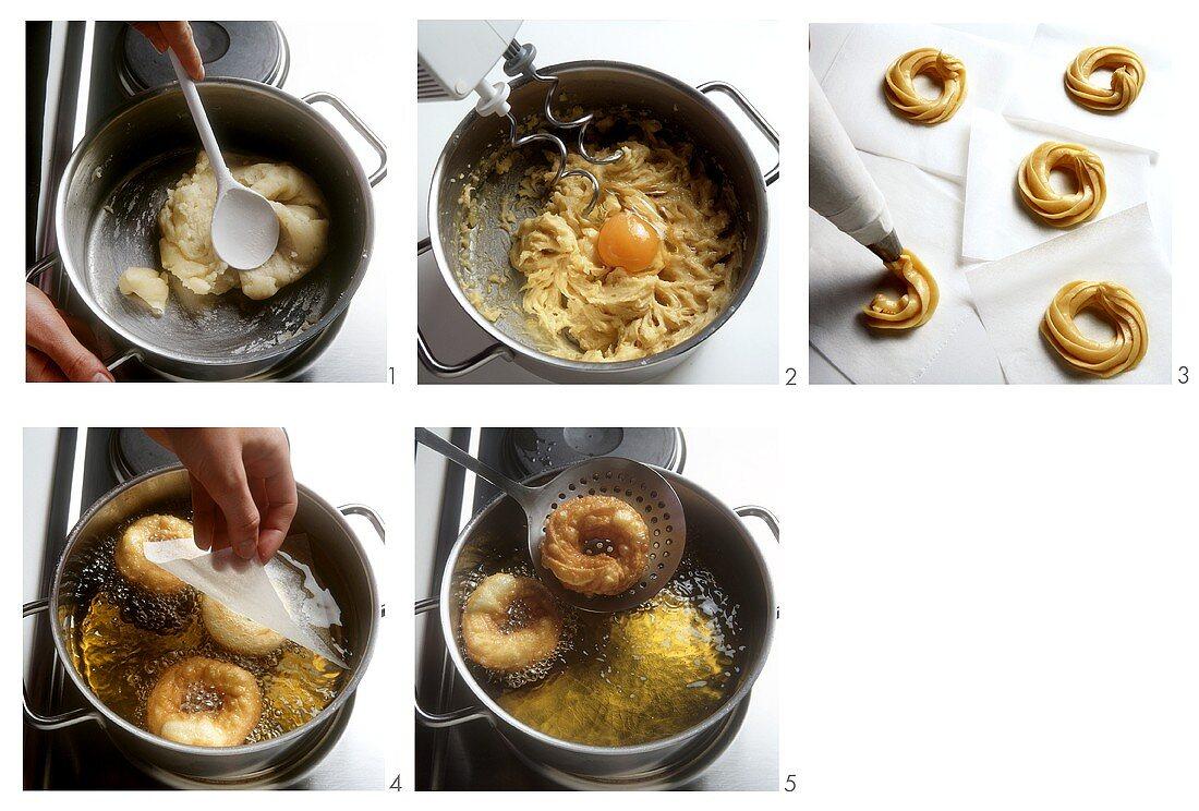 Preparing Eberswalder doughnuts