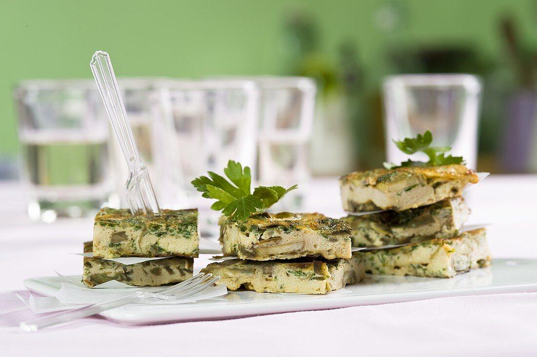 Frittata di carciofi (omelette with artichokes, Italy)