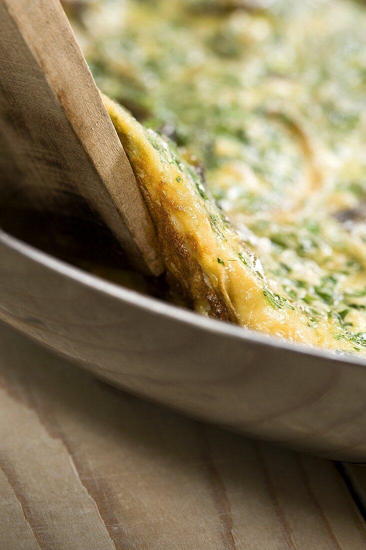 Frittata di carciofi (artichoke omelette, Italy)