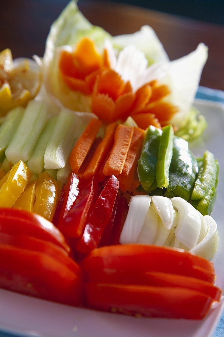 Raw Vegetable Platter With Vegetable License Images 453764 Stockfood