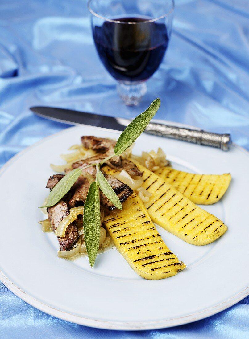 Fegato alla veneziana (veal liver with onions, Italy)