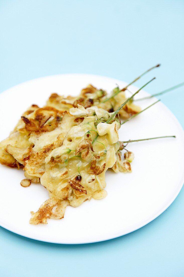 Fried acacia flowers